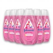 Kit c/ 6 Shampoo JOHNSON'S Baby Gotas de Brilho 200ml