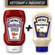 Kit c/ Ketchup Heinz Bacon 397g e Maionese Heinz 390g