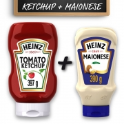 Kit c/ Ketchup Heinz Tradicional 397g e Maionese Heinz 390g