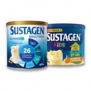Kit c/ Sustagen NE 400g e Sustagen Kids 380g Baunilha