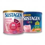 Kit c/ Sustagen NE 400g e Sustagen Kids 380g Morango