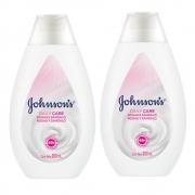 Kit com 2 Hidratantes Daily Care JOHNSON'S Rosas e Sandalo 200ml