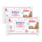 Kit com 2 Lenços Umedecido JOHNSON'S Baby Extra Cuidado 48 unidades