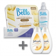 Kit Depilação Depil Bella + Hidratante Johnson's Soft Iluminadora 200ml