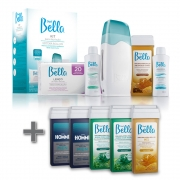 Kit Depilação Roll-On Depil Bella + 5 Refis Cera