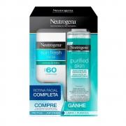 Kit Protetor Solar Facial Neutrogena Sun Fresh FPS60 50ml + Água Micelar 200ml