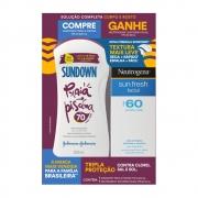 Kit Protetor Solar Sundown Fps70 200ml + Neutrogena Sun Fresh Facial Fps60 50ml