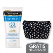 Na compra de 1 Protetor Solar NEUTROGENA Sun Fresh FPS 50 120ml Leve 1 Necessaire Estrela Neutrogena