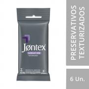 Preservativo JONTEX  Lubrificado Texturizado 6 unidades