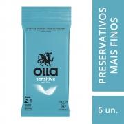 Preservativo OLLA Lubrificado Sensitive 6 unidades