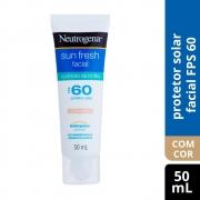 Prot Solar NEUTROGENA SuFr Facial Cont Brilho cor FPS60 50ml