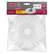 Refil Mop Noviça Giratório Microfibra Bettanin Fit 8 Litros