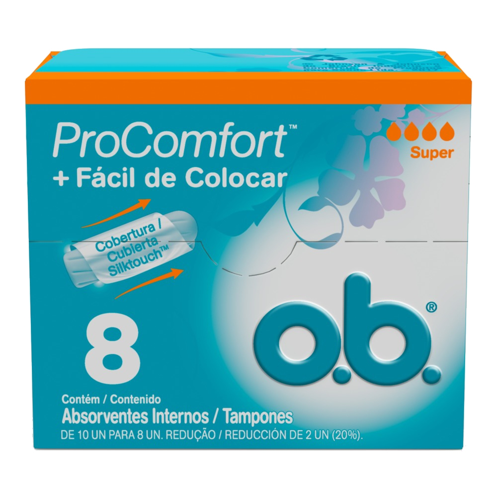 Absorvente Interno O.B Procomfort Super 8 Unidades