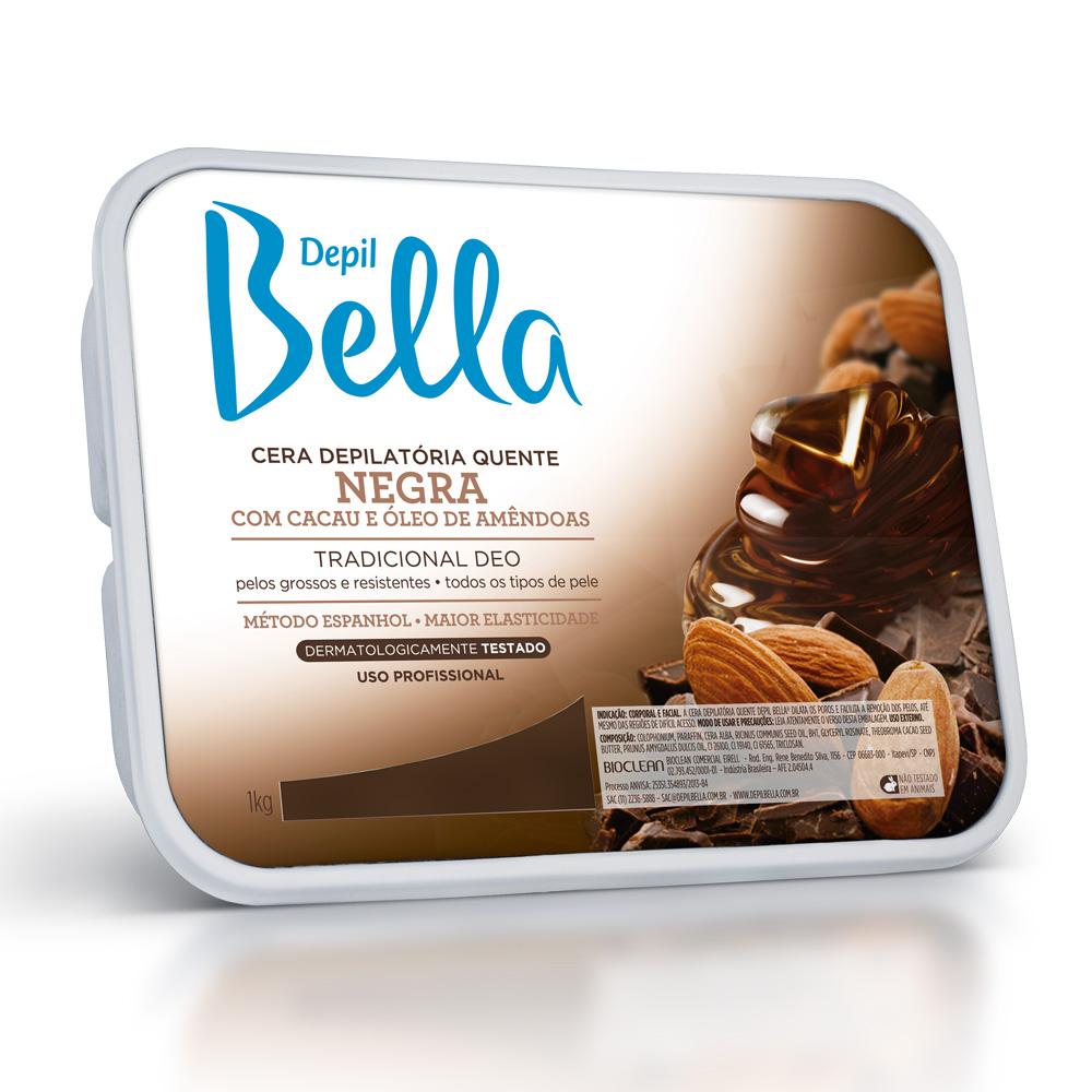 Cera Quente em Barra Depil Bella Negra Deo 1kg