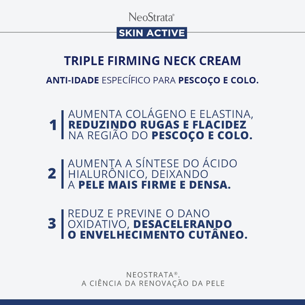 Creme Antissinais Pescoço/Colo Neostrata Act Triple Firm 80g