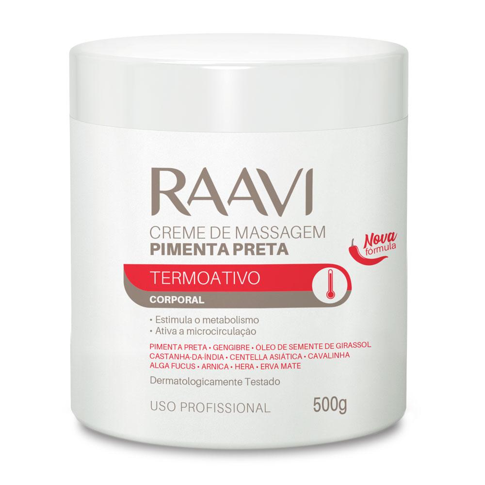 Creme para massagem de Pimenta Raavi 500g