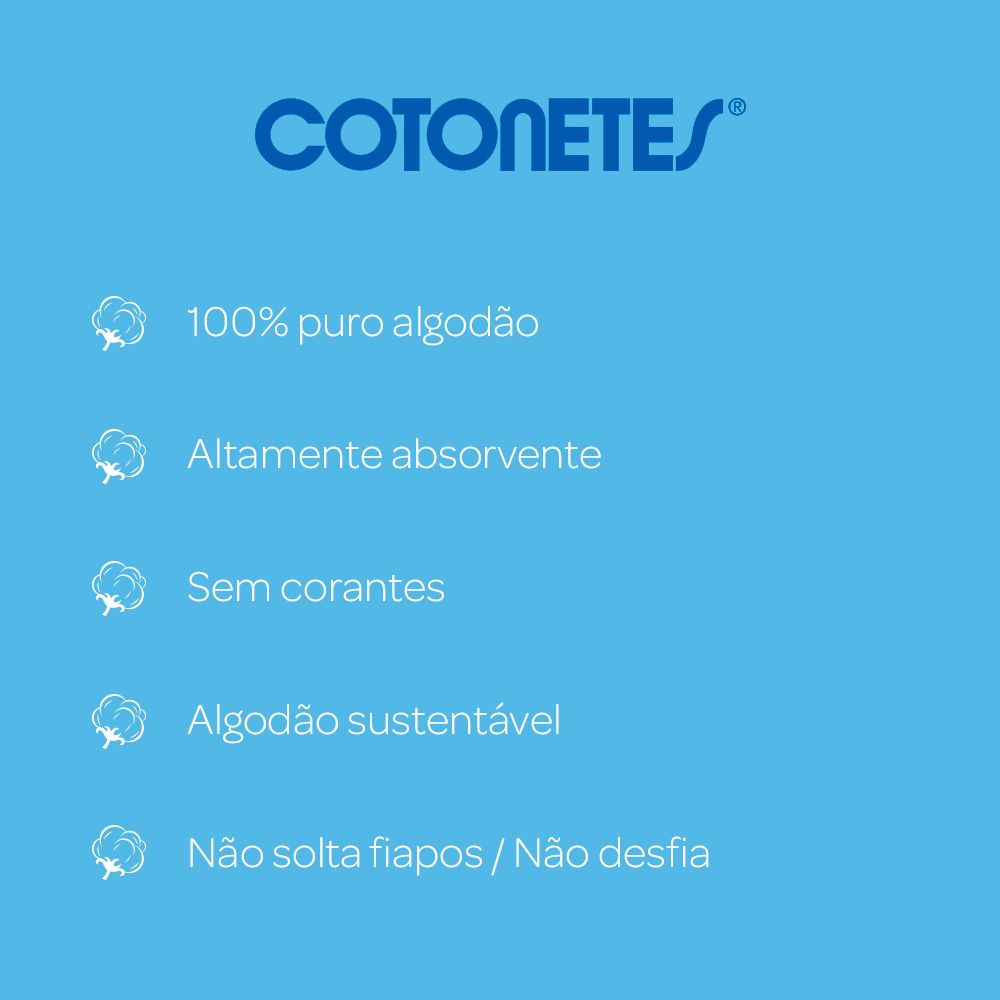 Hastes Flexíveis COTONETES 75 unidades
