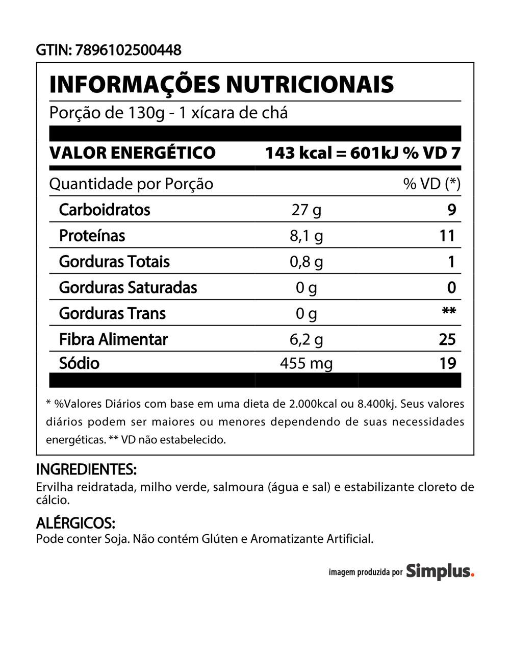 Kit c/ 12 Ervilha E Milho Quero Lata 170g