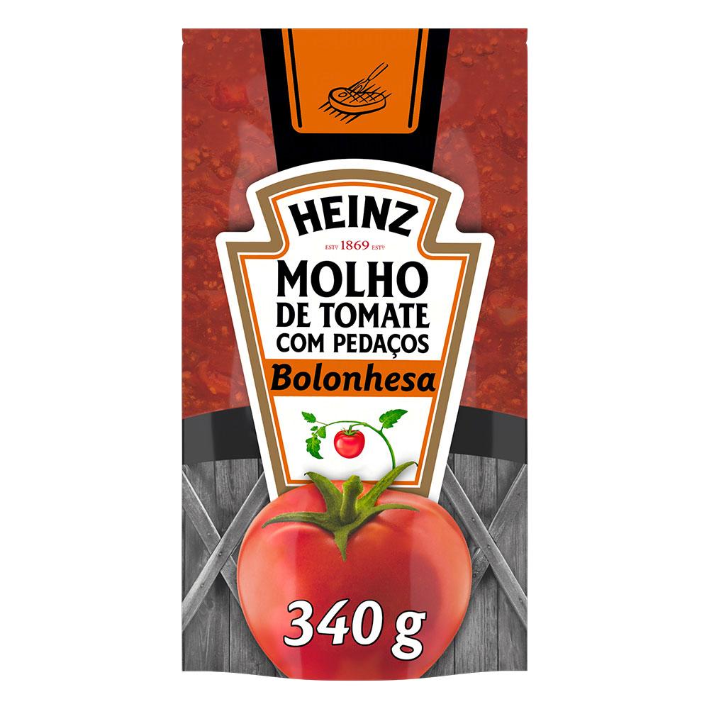 Kit c/ 12 Molho De Tomate Heinz Bolonhesa 340g