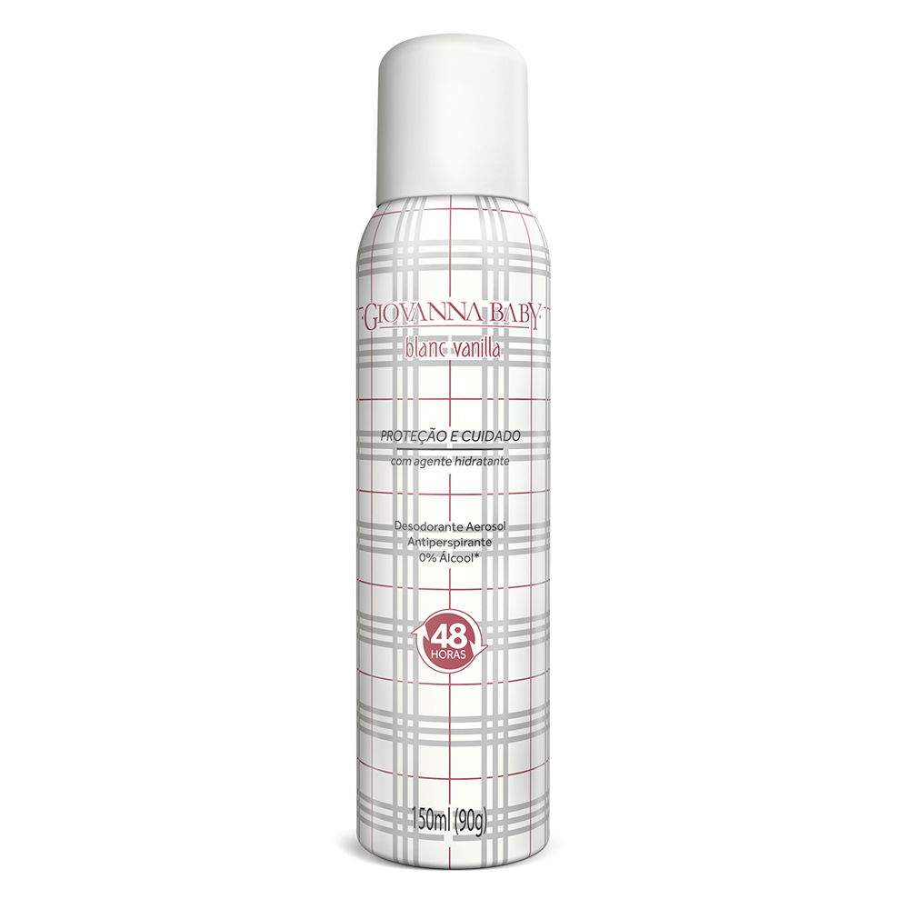 Kit c/ 2 Desodorante Aerossol Giovanna Baby Blanc Vanilla 150 ml