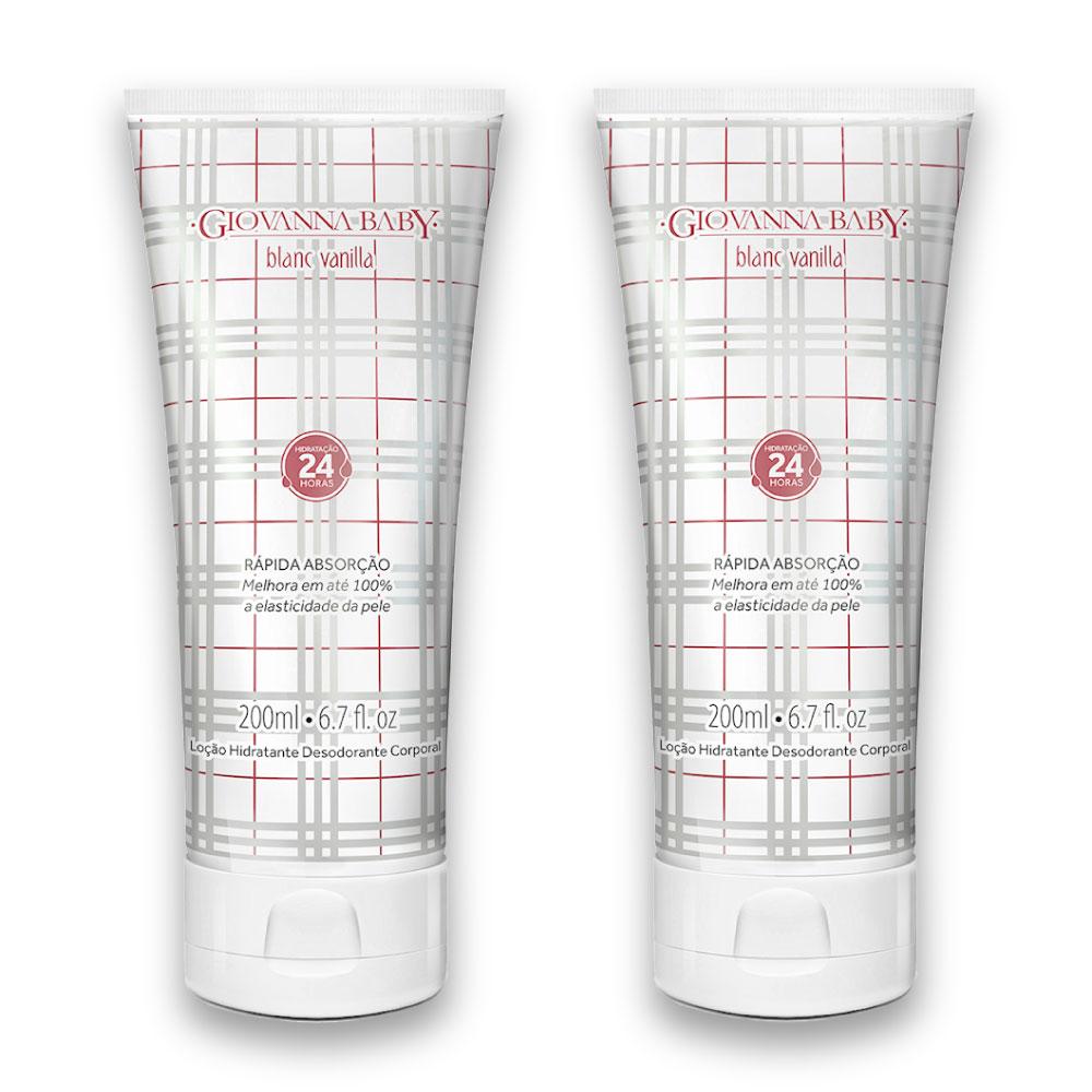 Kit c/ 2 Loção Hidratante Blanc Vanilla Giovanna Baby 200 ml