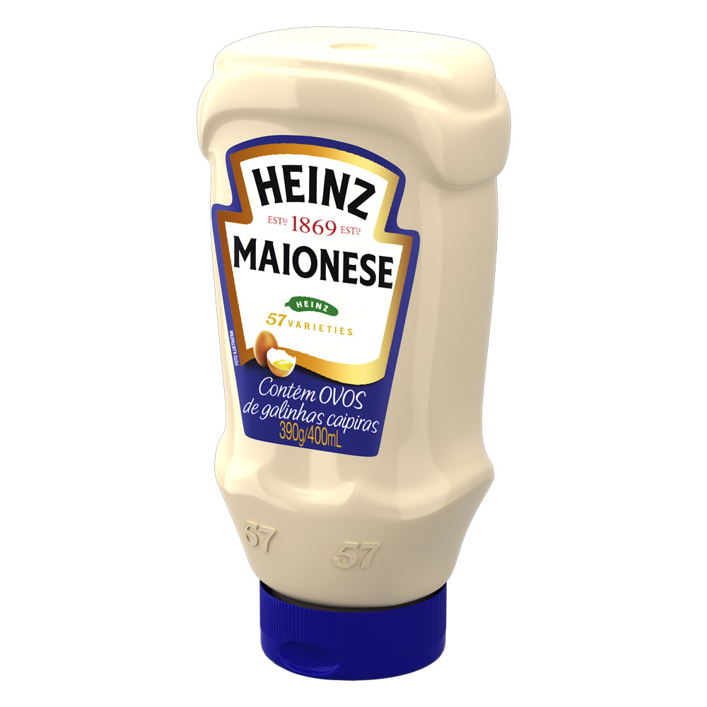 Kit c/ 2 Maionese Heinz Tradicional 390g