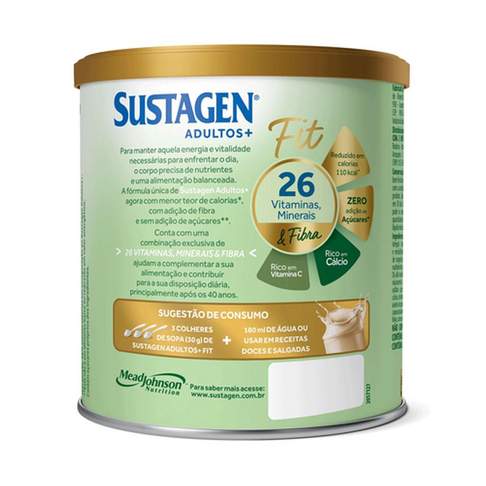 Kit c/ 2 Sustagen Fit Complemento Alimentar Sem Sabor 370g