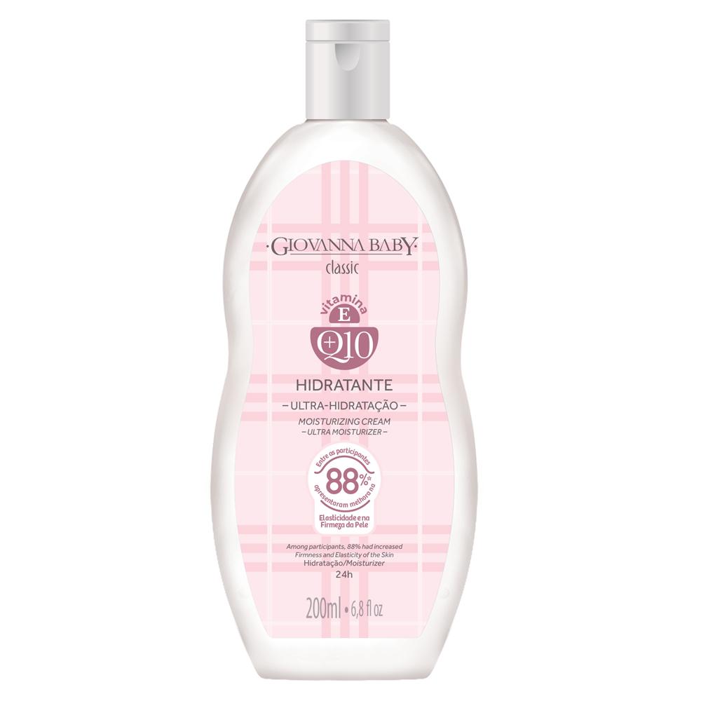 Kit c/ 3 Creme Hidratante Desodorante Giovanna Baby Q10 Classic 200ml