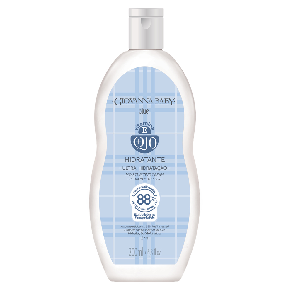 Kit c/ 3 Creme Hidratante Desodorante Q10 Giovanna Baby Blue 200ml
