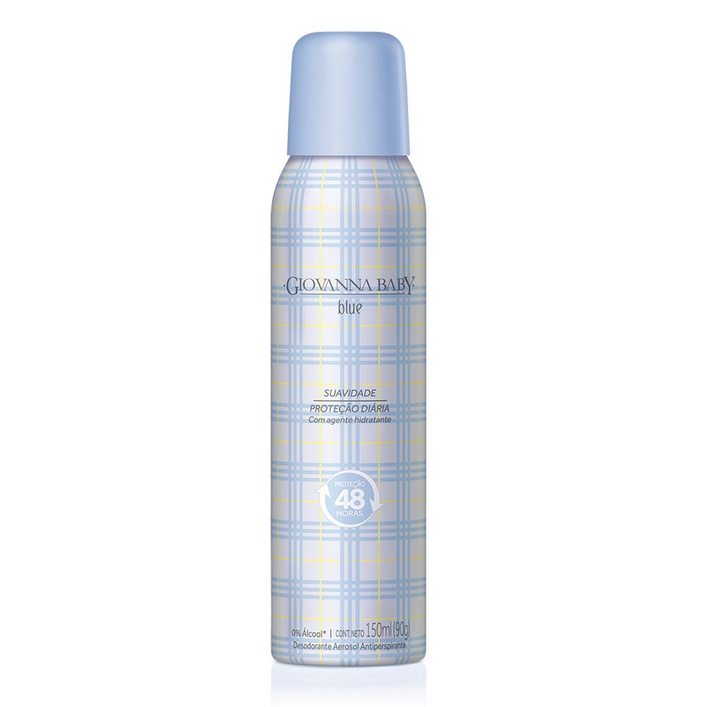 Kit c/ 3 Desodorante Aerossol Giovanna Baby Blue 150 ml