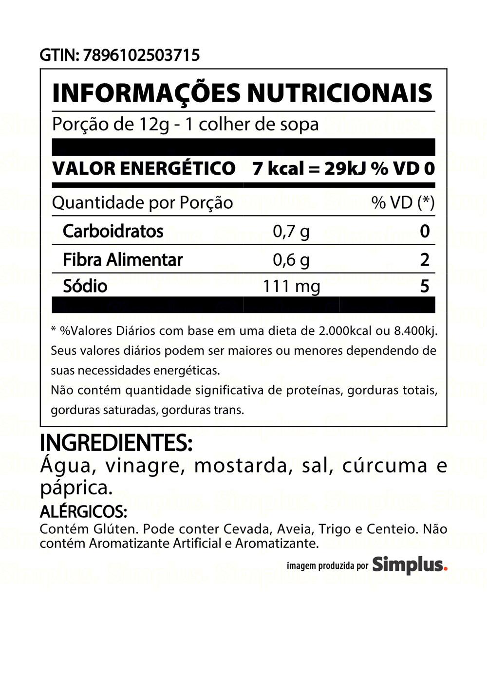 Kit c/ 3 Mostarda Heinz Tradicional 255g
