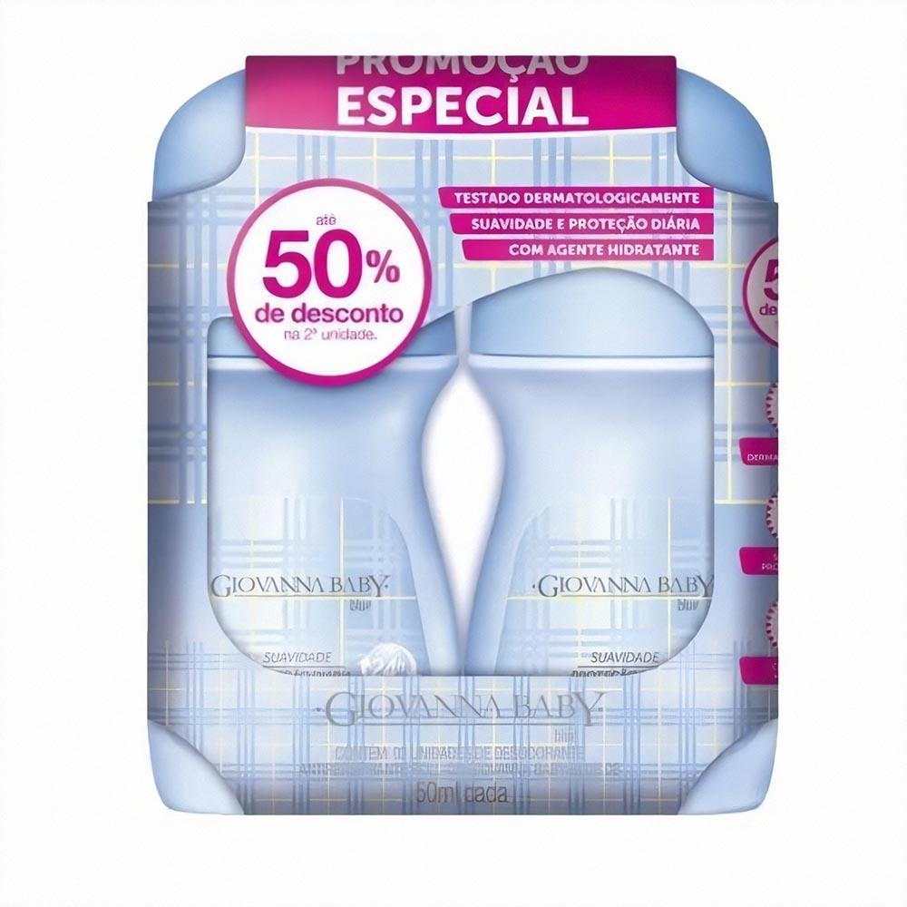 Kit c/ 3 Pack Desodorante Rollon Giovanna Baby Blue 50 ml