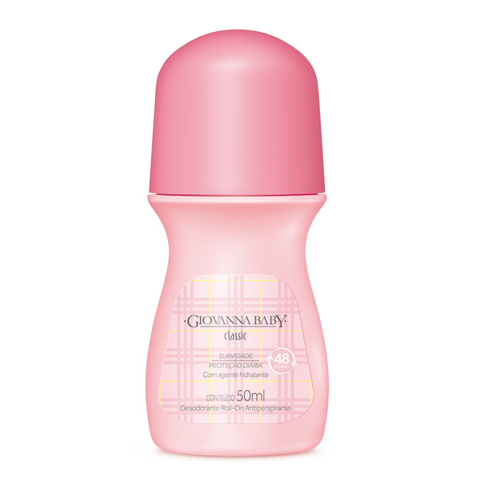 Kit c/ 4 Desodorante Rollon Giovanna Baby Classic 50ml