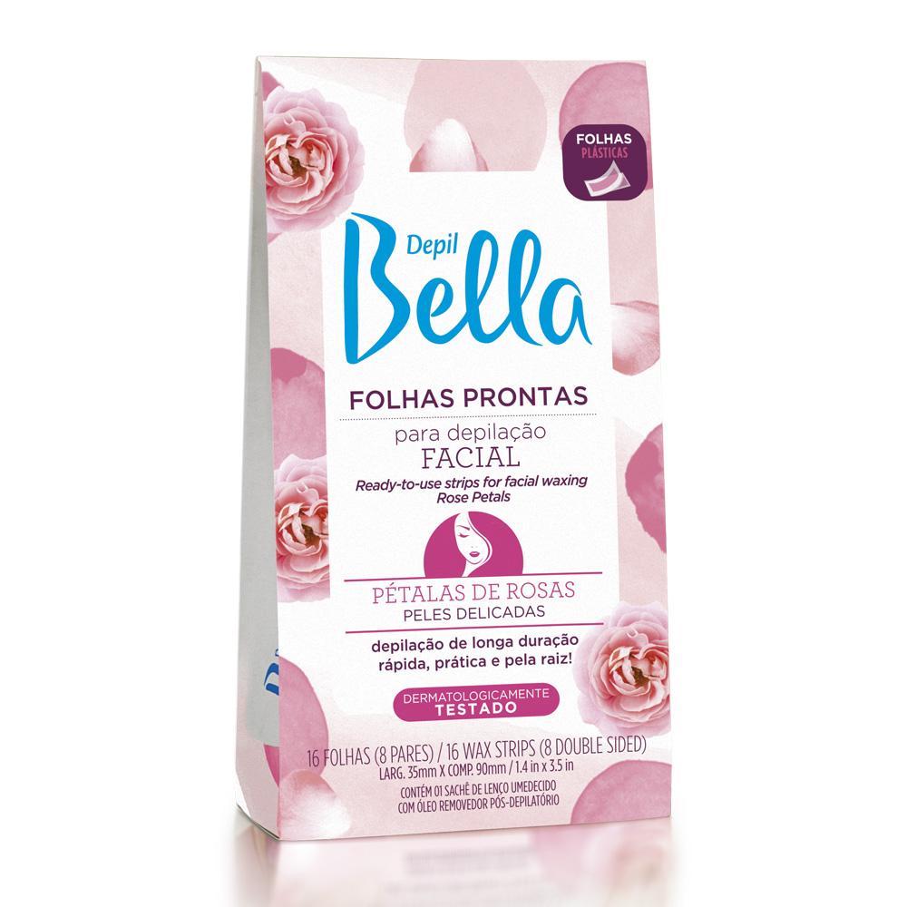 Kit c/ 4 Folhas Prontas para Depilação Facial Pétalas de Rosas Depil Bella 16fls