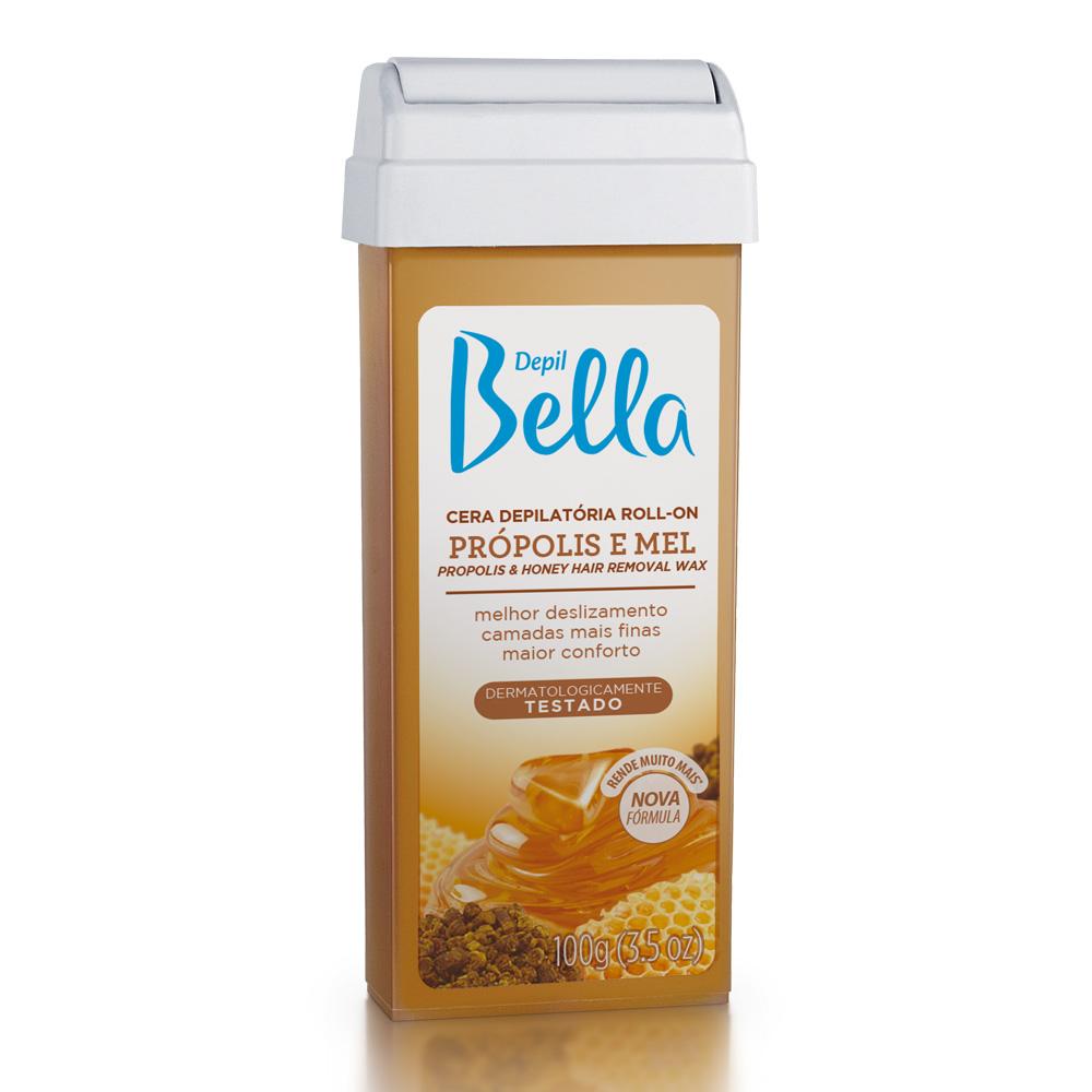 Kit c/ 6 Refil Cera Depilatória Roll-On Depil Bella Propolis e Mel 100g