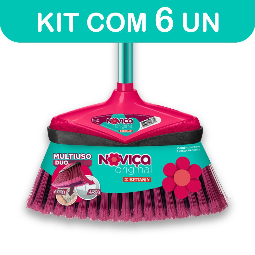 Kit c/ 6 Vassouras Noviça Original sem Cabo