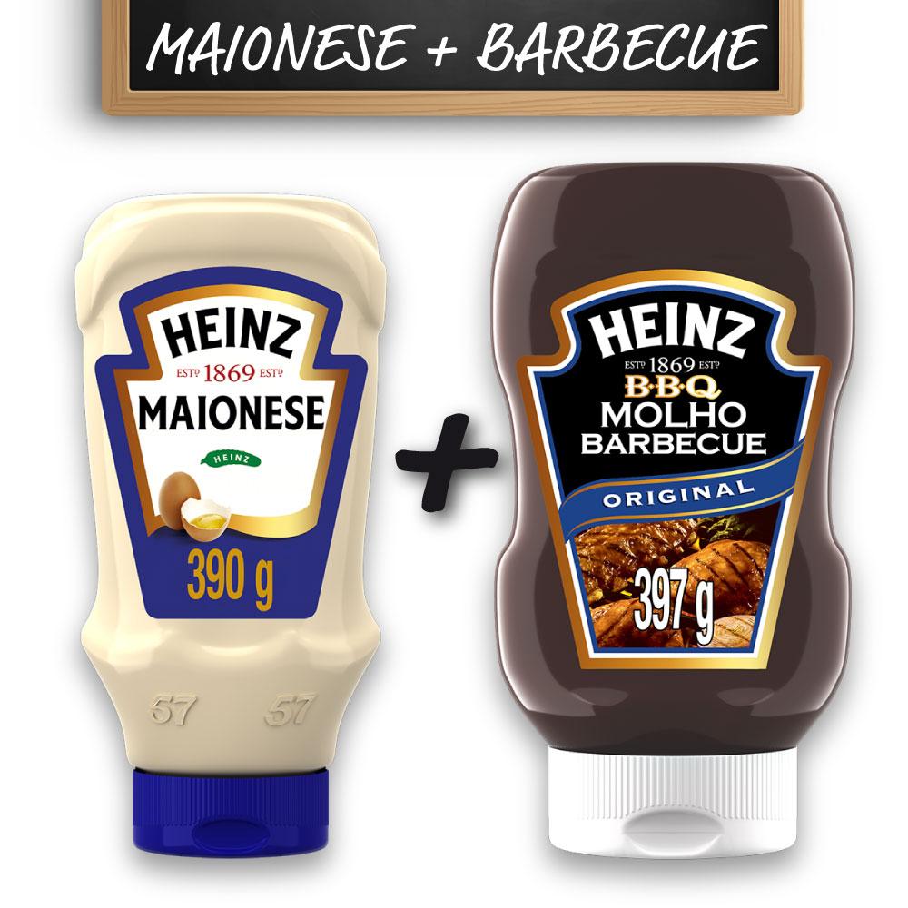 Kit c/ Maionese Heinz Tradicional 397g e Barbecue Heinz 397g