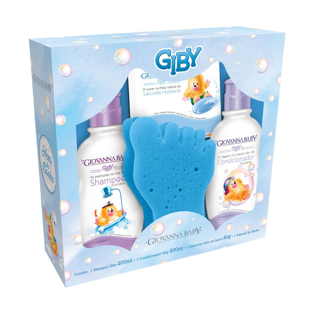 Kit Infantil Giovanna Baby Giby A hora do Banho Azul