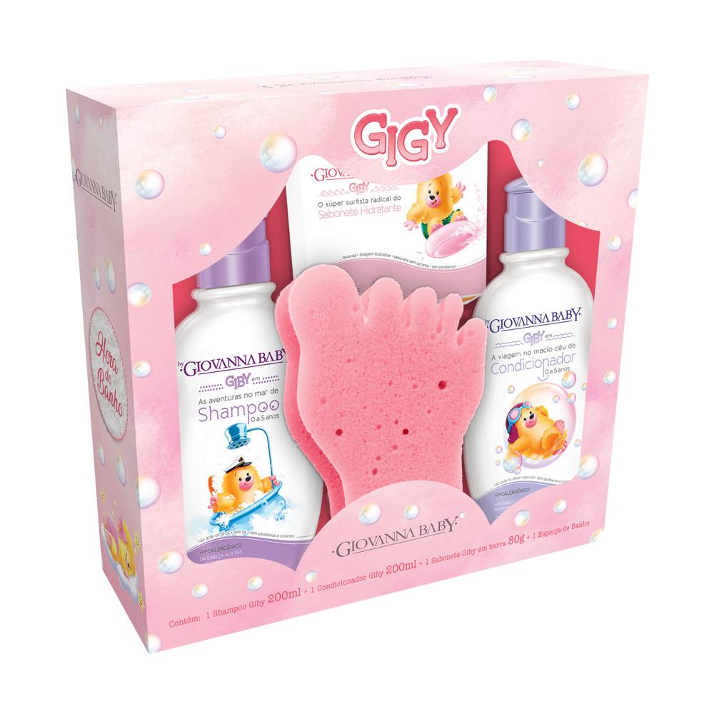 Kit Infantil Giovanna Baby Giby A Hora Do Banho Rosa