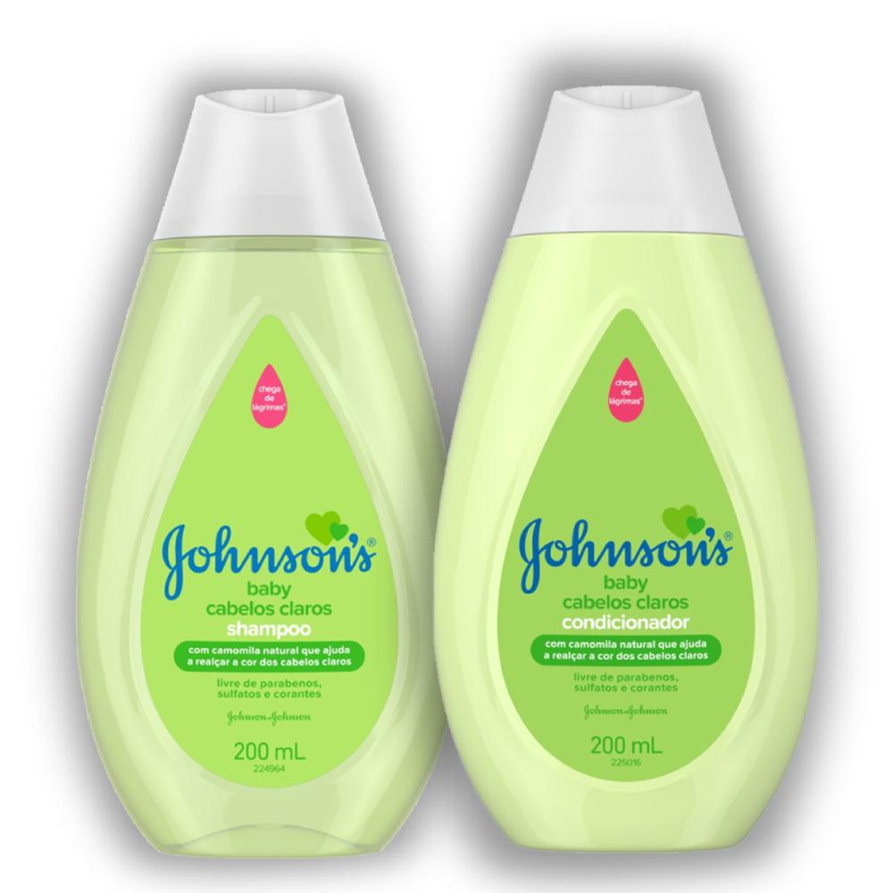 Kit Johnson's Baby Cabelos Claros c/ Shampoo e Condicionador 200ml