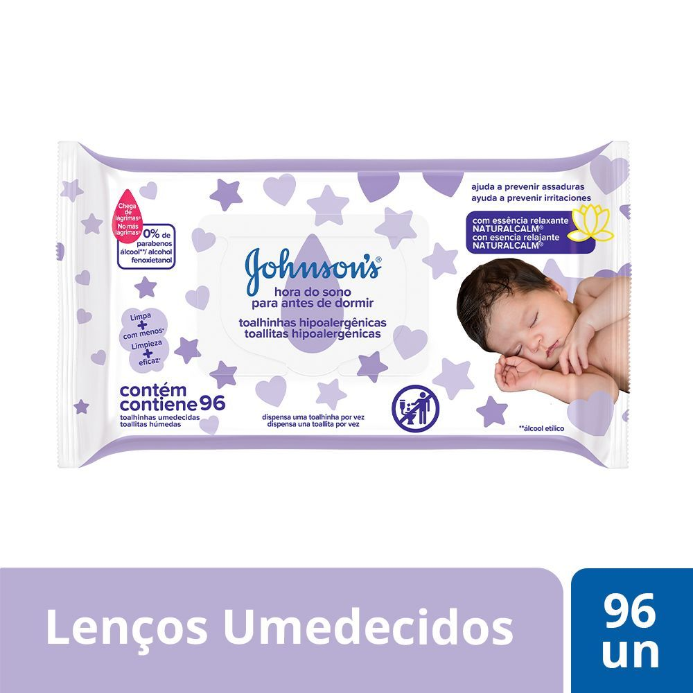 Lenços Umedecidos JOHNSON'S Baby Hora do Sono 96un