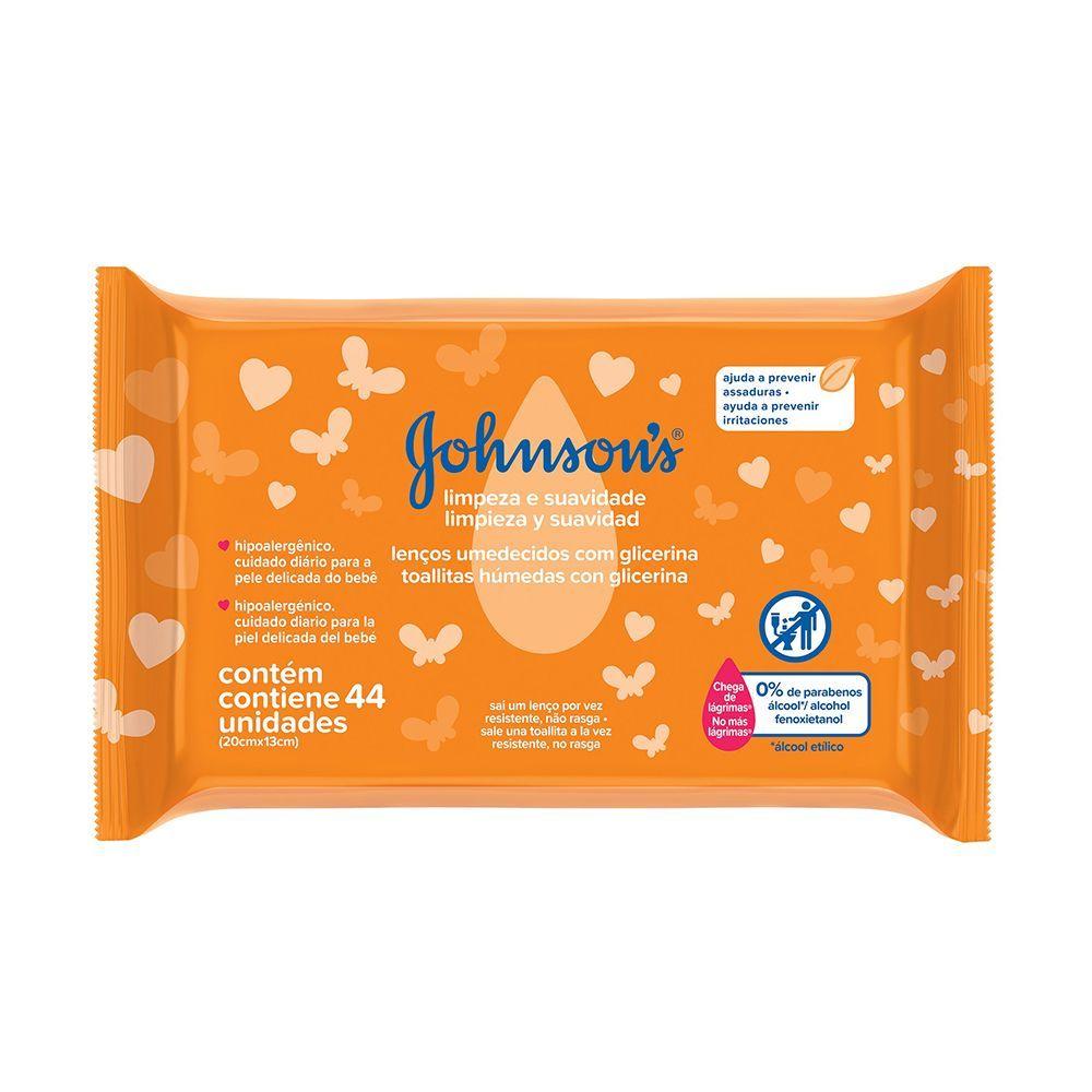 Lenços Umedecidos JOHNSON'S Baby Limpeza e Suavidade 44 un