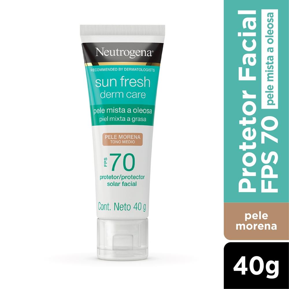 Neutrogena Sun Fresh Oily Skin Pele Morena FPS 70