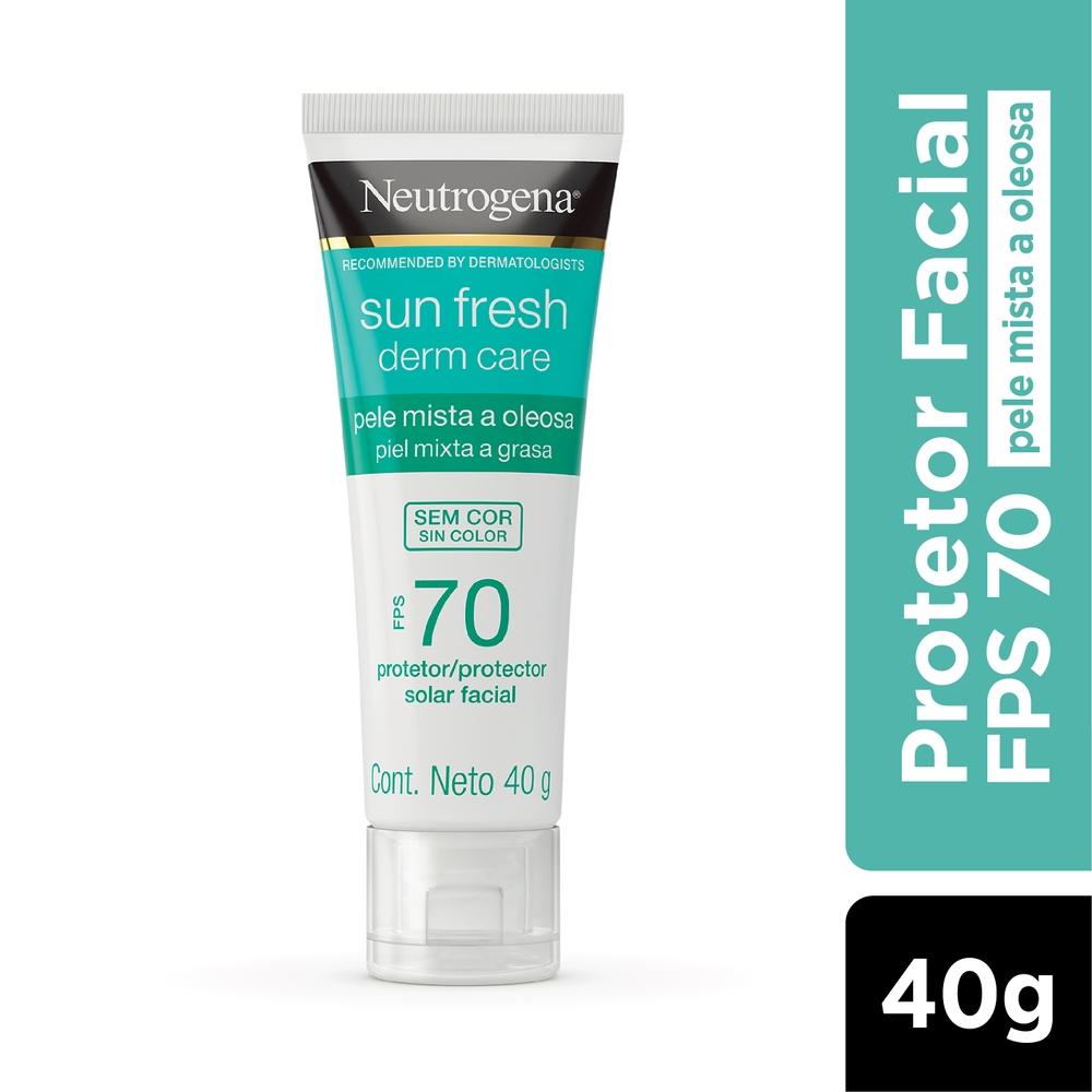 Neutrogena Sun Fresh Oily Skin Sem Cor FPS 70