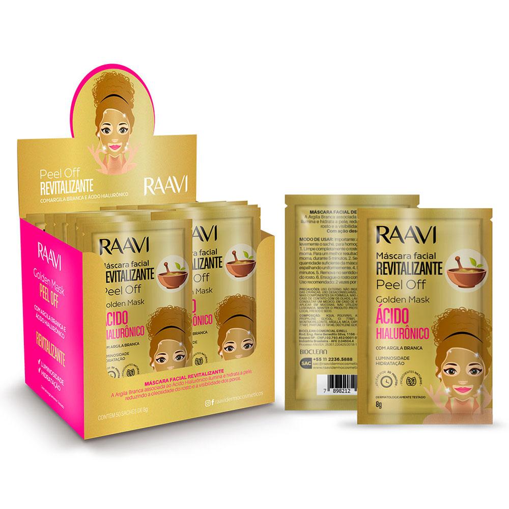 Pack Máscara Peel Off  Argila Branca-  Golden Mask