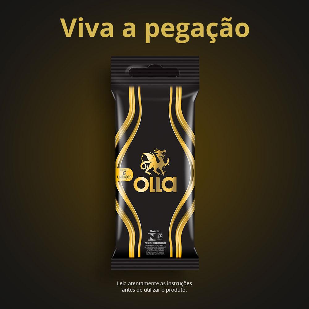 Preservativo OLLA Lubrificado 6 unidades