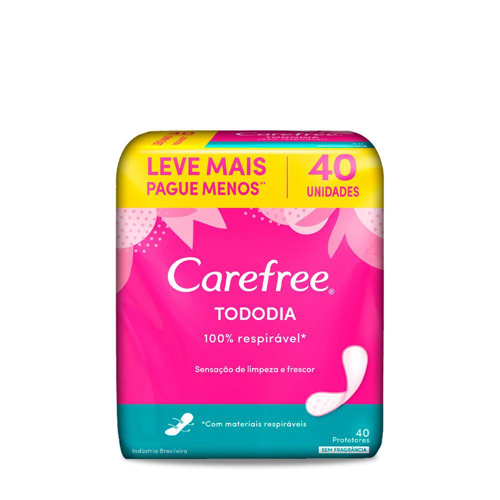 Protetor Diário CAREFREE Todo Dia sem Perfume 40un