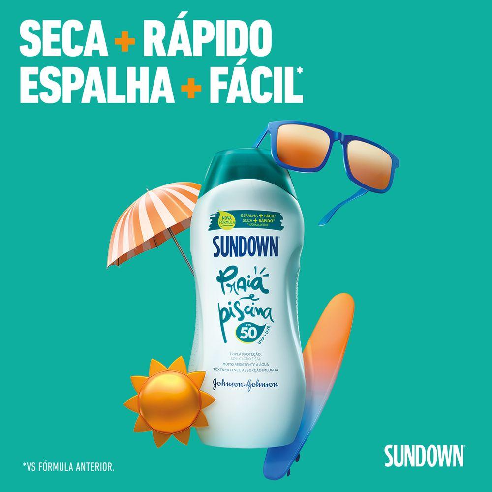 Protetor Solar SUNDOWN Praia e Piscina FPS 50 120ml