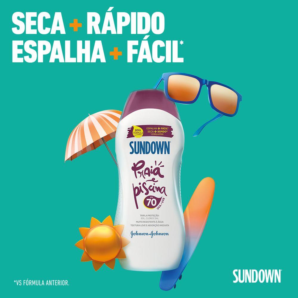 Protetor Solar SUNDOWN Praia e Piscina FPS 70 120ml