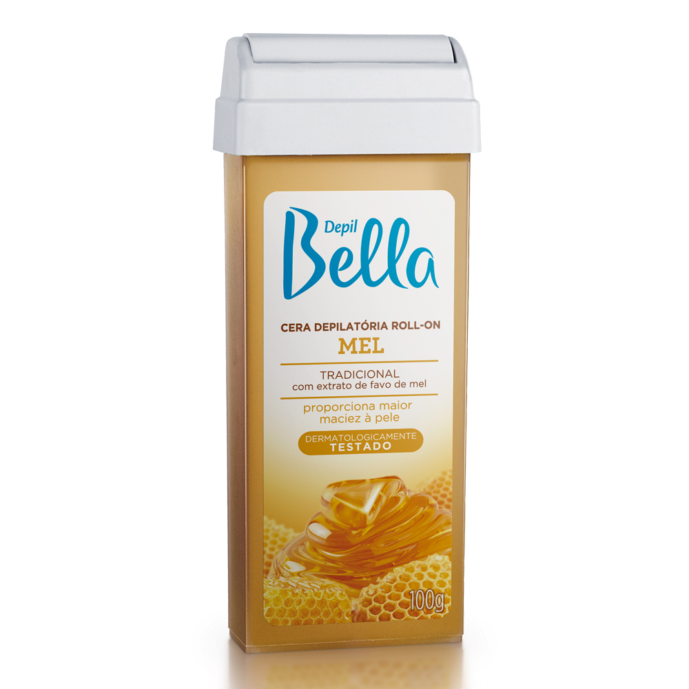 Refil Cera Depilatória Roll-On Depil Bella Mel Deo 100g